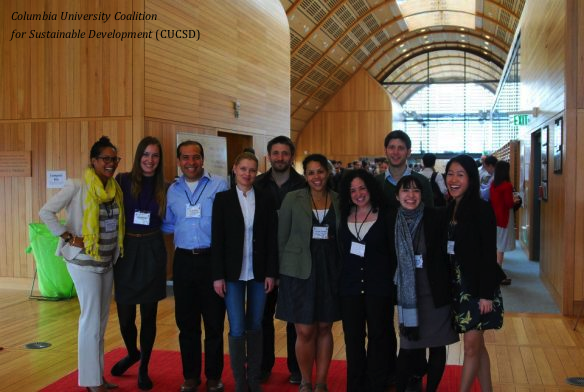 Columbia University Coalition for Sustainable Development (CUCSD) Delegates at Citizens' Summit