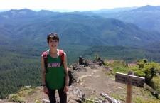 The author hiking Iron Mountain.