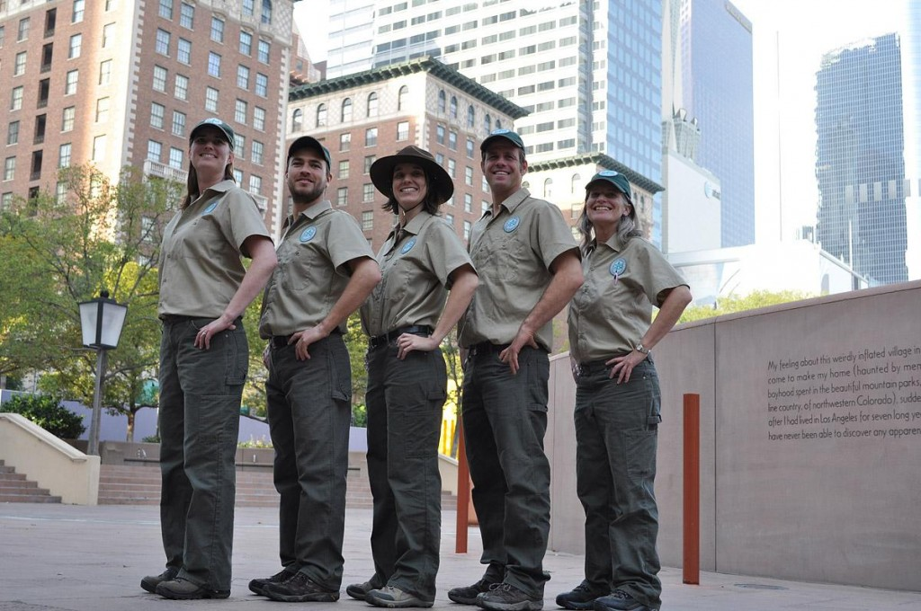 The LA Urban Rangers, in full ranger attire. Photo credit: Joe Bruns / LA Urban Rangers. Used with permission.