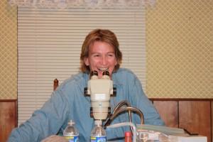 Yale Professor Marta Wells at work.  Photo courtesy of Marta Wells.