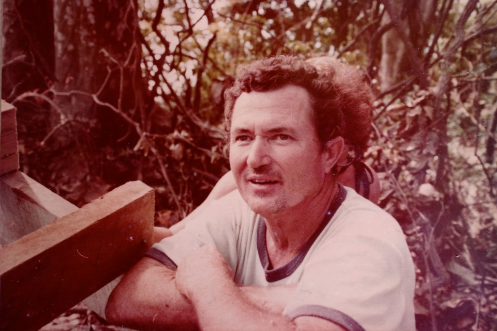 A younger Tom Moody, freshly arrived on Namenalala. Photo by Joan Moody.