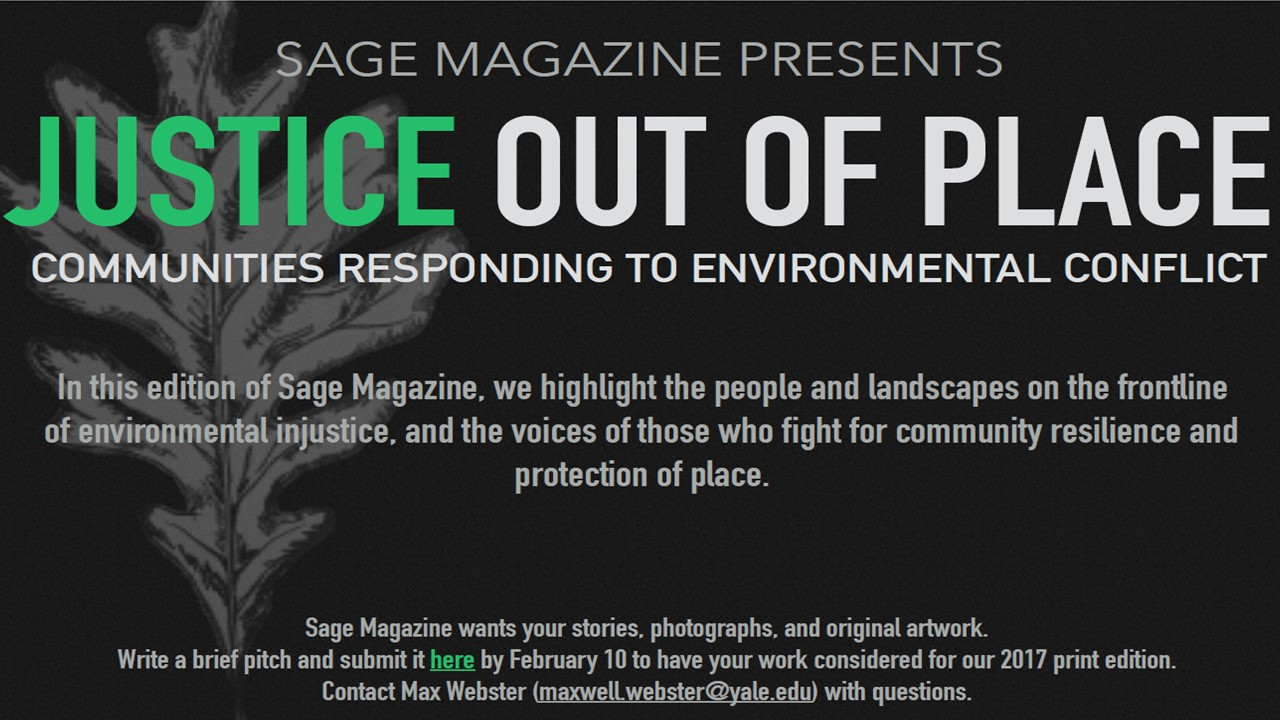 """Sage Magazine 2017 Print Edition: """"Justice Out of Place"""""""