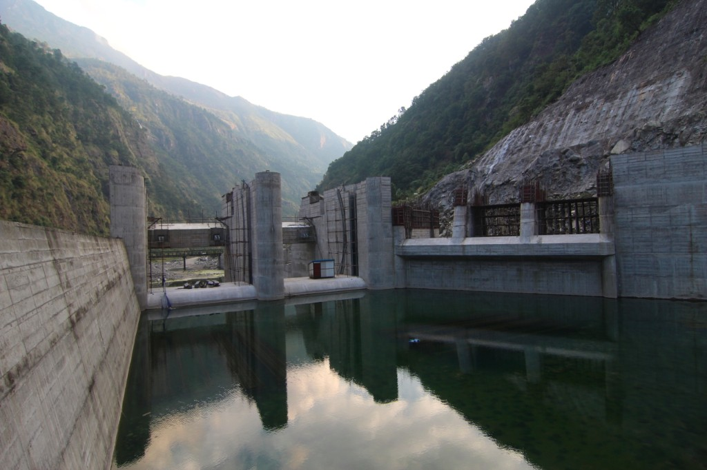 Headworks Dam Site of the Trishuli 3A Hydropower Project (60 MW) – Salleta, Rasuwa District.