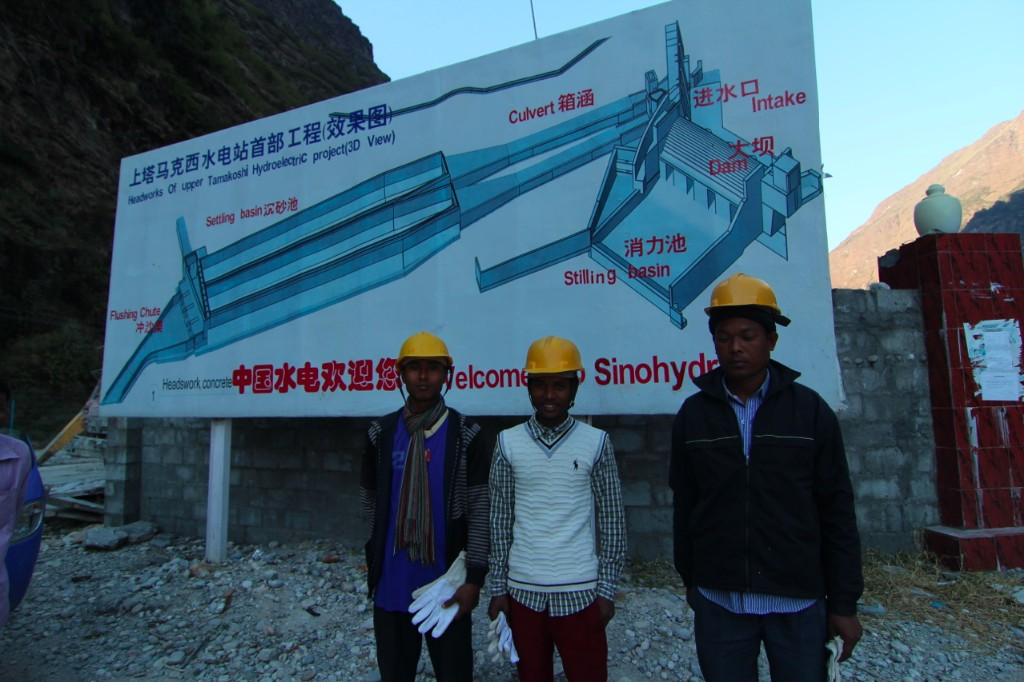New Employees Outside SinoHydro Project Headquarters at the Upper Tamakoshi Hydropower Project Site – Lamabagar, Dolakha District