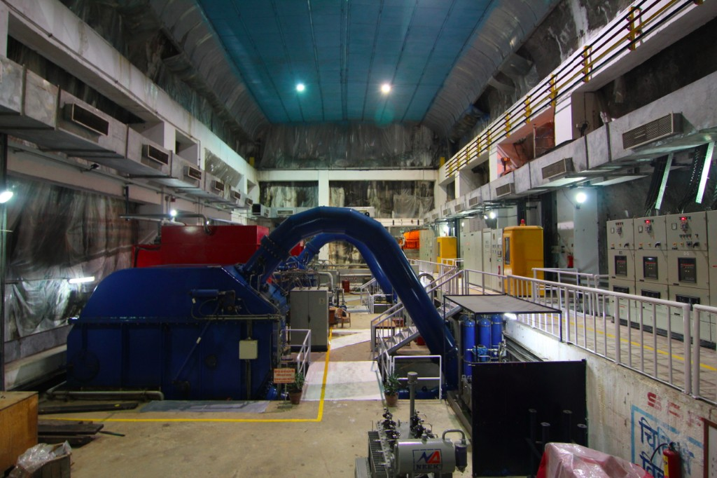 Turbine Room of the 22.1 MW Chilime Hydropower Project – Syaphru Besi, Rasuwa District
