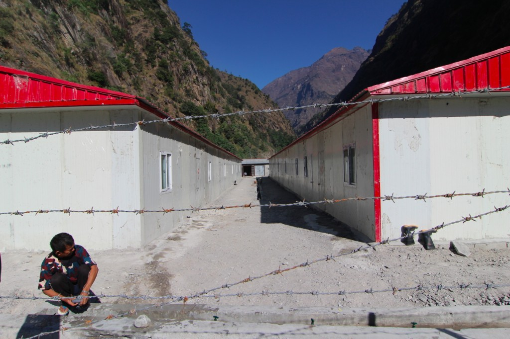 Temporary Camp for Bureau 6 SinoHydro Employees at the Powerhouse Site of the Upper Tamakoshi Hydropower Project (456 MW) – Gonggar, Dolakha District