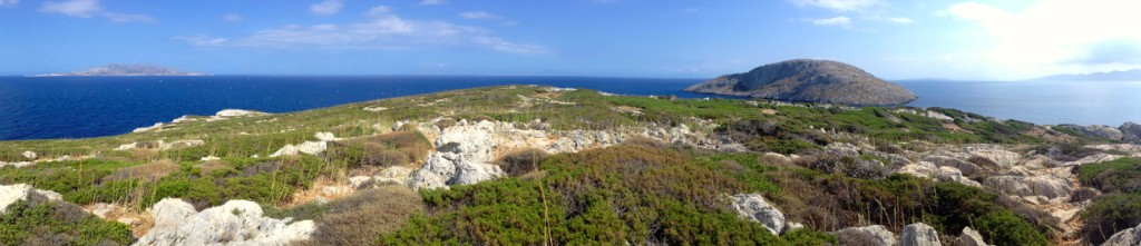 A panoramic view of one of the islands.