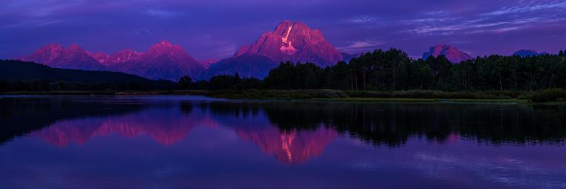 First Light on Mt. Moran